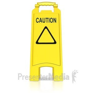 ID# 8540 - Floor Caution Sign - Presentation Clipart