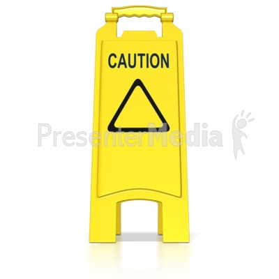 Floor Caution Sign PowerPoint Clip Art