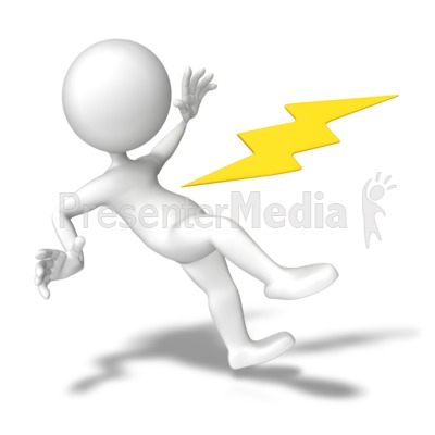 Shocked With Electricity PowerPoint Clip Art