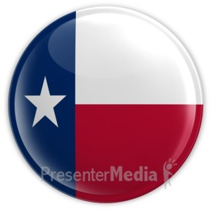 ID# 8549 - Badge of Texas - Presentation Clipart