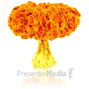 ID# 8554 - Nuclear Explosion - Presentation Clipart