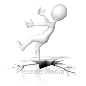 ID# 8566 - Falling Down Crack - Presentation Clipart