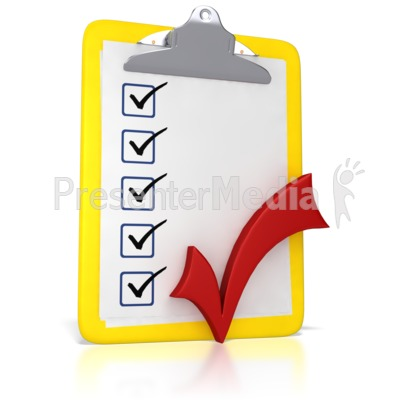 Clipboard With A Checkmark PowerPoint Clip Art