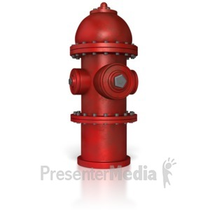 ID# 8582 - Fire Hydrant - Presentation Clipart
