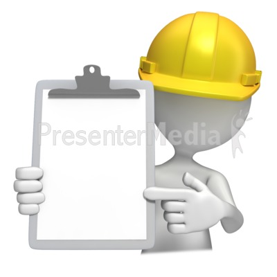 Construction Hardhat With Clipboard  PowerPoint Clip Art