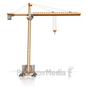 ID# 8614 - Construction Crane Side View - Presentation Clipart