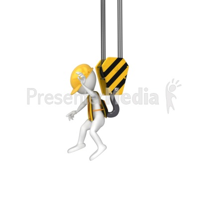 Stick Figure Grabbed By Hook PowerPoint Clip Art
