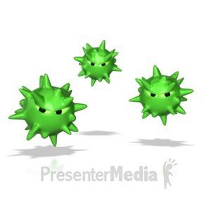 ID# 8621 - Virus Spores  - Presentation Clipart