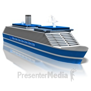 ID# 8630 - Cruise Ship - Presentation Clipart
