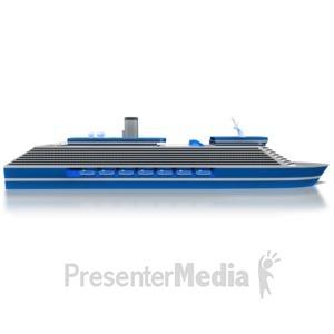 ID# 8631 - Cruise Ship Side - Presentation Clipart