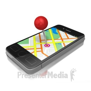 ID# 8642 - Gps Smart Phone - Presentation Clipart