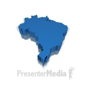 ID# 8653 - 3-D Brazil - Presentation Clipart