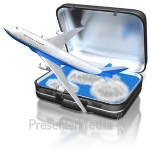 ID# 8658 - Suitcase Passenger Jet - Presentation Clipart