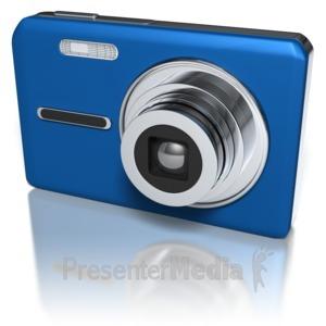ID# 8668 - Compact Camera - Presentation Clipart