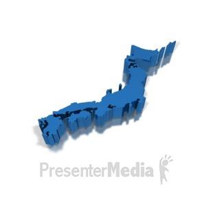 ID# 8669 - 3D Japan - Presentation Clipart