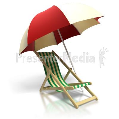 Beach Chair Umbrella PowerPoint Clip Art