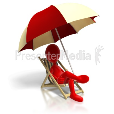 Relaxing In Beach Chair PowerPoint Clip Art