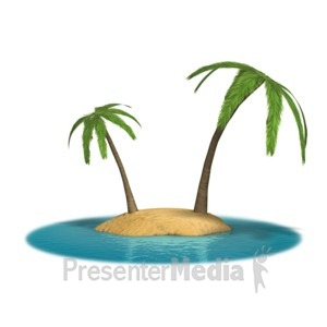 ID# 8681 - Palm Island - Presentation Clipart