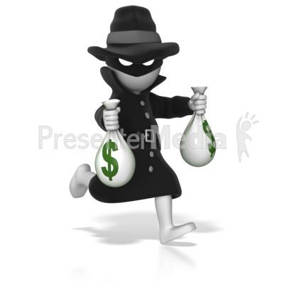 Thief Running With Money Thief Running With Money Bags