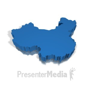 ID# 8709 - 3-D China - Presentation Clipart