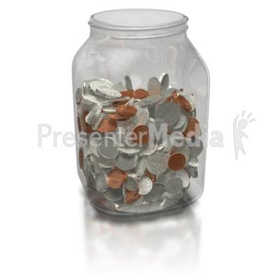 Coin Jar PowerPoint Clip Art