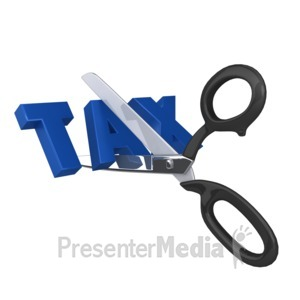 ID# 8732 - Cutting Taxes - Presentation Clipart