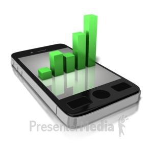 ID# 8800 - Smart Phone Statistics - Presentation Clipart