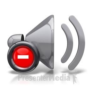 ID# 8815 - Mute Speaker Icon - Presentation Clipart