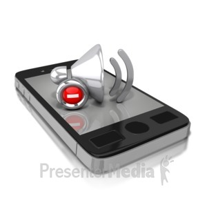 ID# 8817 - Smart Phone Mute - Presentation Clipart