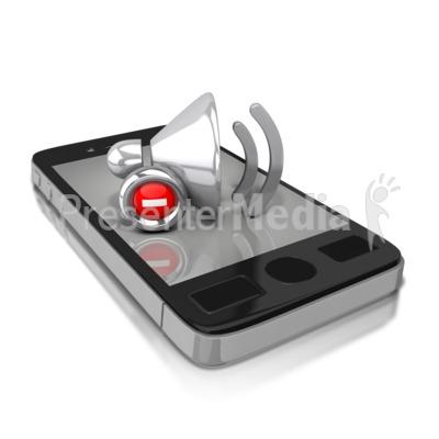 Smart Phone Mute PowerPoint Clip Art