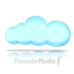 ID# 8821 - The Cloud - Presentation Clipart