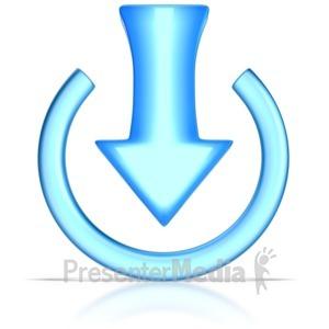 ID# 8824 - Download Symbol - Presentation Clipart