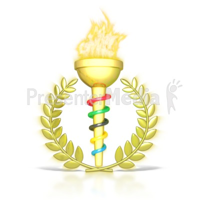 Ceremonial Flaming Torch PowerPoint Clip Art