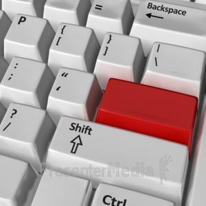 ID# 8837 - Keyboard Blank Key - Presentation Clipart