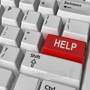ID# 8838 - Keyboard Help Key - Presentation Clipart