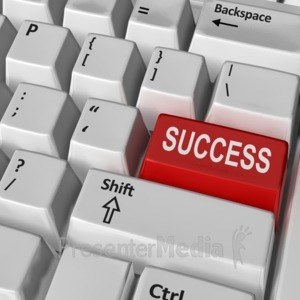 ID# 8839 - Keyboard Success Key - Presentation Clipart