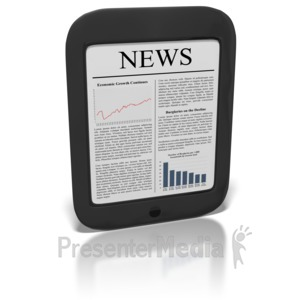 ID# 8849 - eReader News - Presentation Clipart