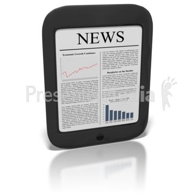 eReader News PowerPoint Clip Art