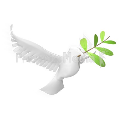 Dove With Olive Leaf PowerPoint Clip Art