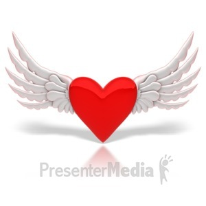 ID# 8867 - Winged Heart - Presentation Clipart