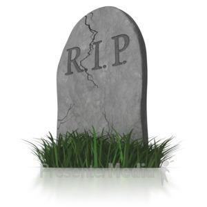 ID# 8871 - RIP Head Stone - Presentation Clipart