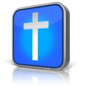 ID# 8873 - Cross App Icon - Presentation Clipart