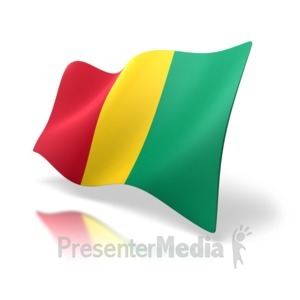 ID# 8878 - Guinea Flag - Presentation Clipart