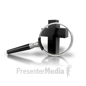 ID# 8882 - Magnify The Cross - Presentation Clipart