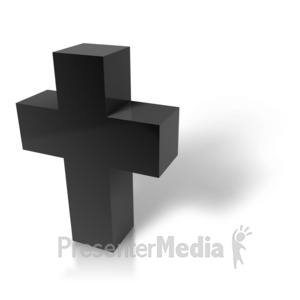ID# 8883 - Modern Cross - Presentation Clipart