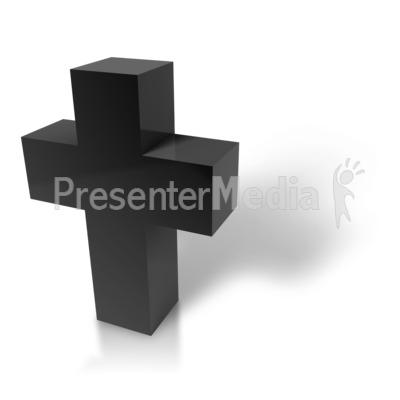 Modern Cross PowerPoint Clip Art