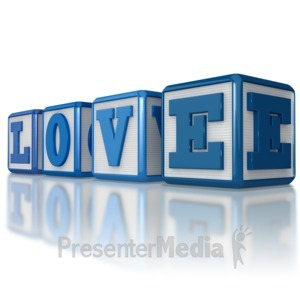 ID# 8887 - Love Blocks - Presentation Clipart