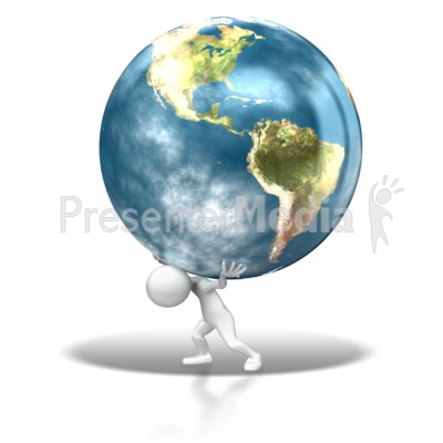 The Weight Of The World PowerPoint Clip Art