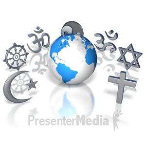 ID# 8904 - World Religions - Presentation Clipart