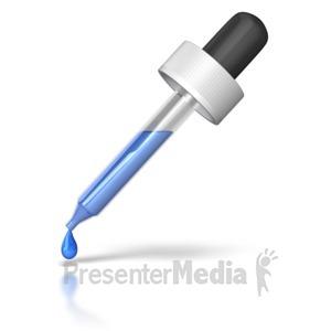 ID# 8928 - Eye Dropper Dripping - Presentation Clipart